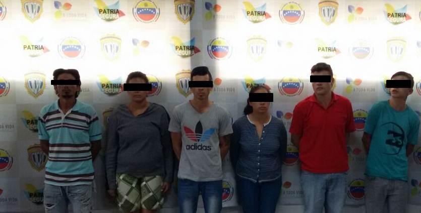 6 detenidos