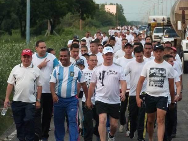 Caminata por la paz y la vida, en conmemoración al XV aniversario ...
