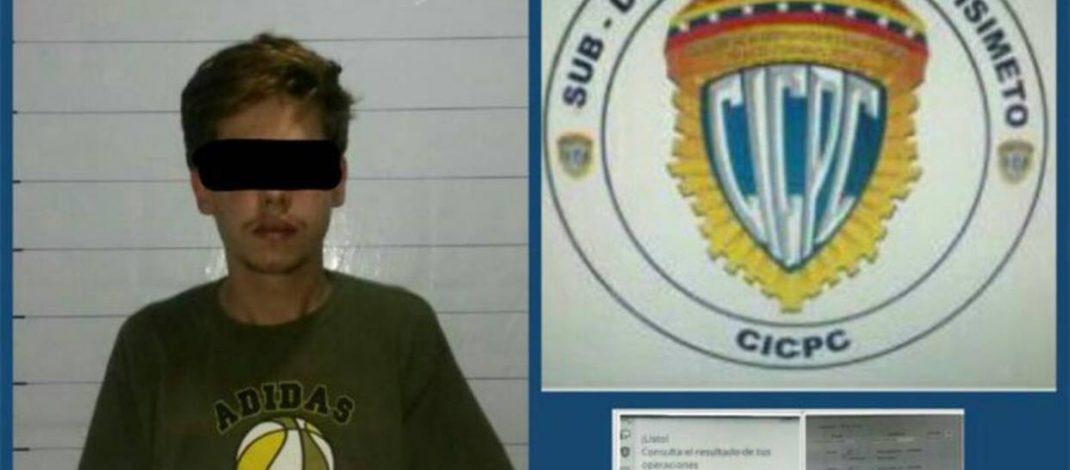 Detuvieron a joven en Barquisimeto por hacer transferencias falsas