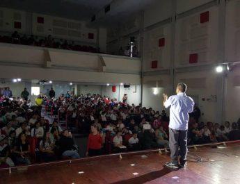 """En Macarao estudiantes de la UENB """"Claudio Feliciano"""" reciben charlas preventivas por el Cicpc"""