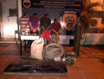 Funcionarios de la PNB desmantelan la banda Los Burritos en Anzoátegui