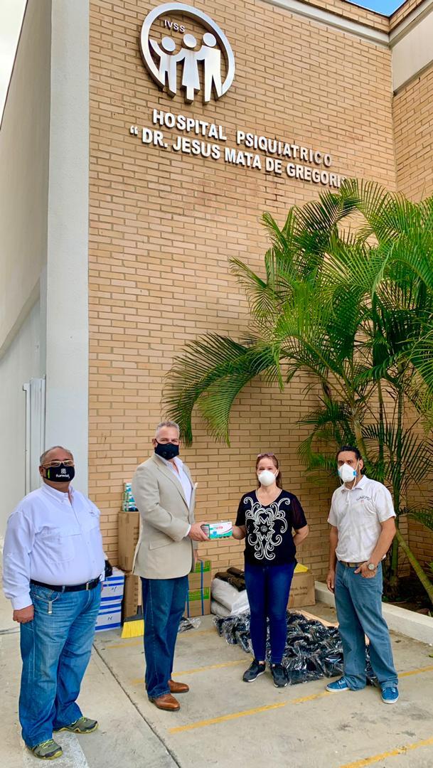 Entregan dotación de insumos de bioseguridad al Hospital Psiquiátrico Dr. Jesús Mata de Gregorio