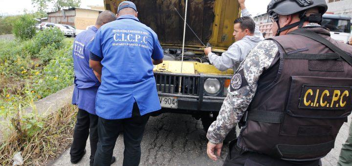 CICPC dispone de 23 ejes de investigación contra robo y hurto de vehículos