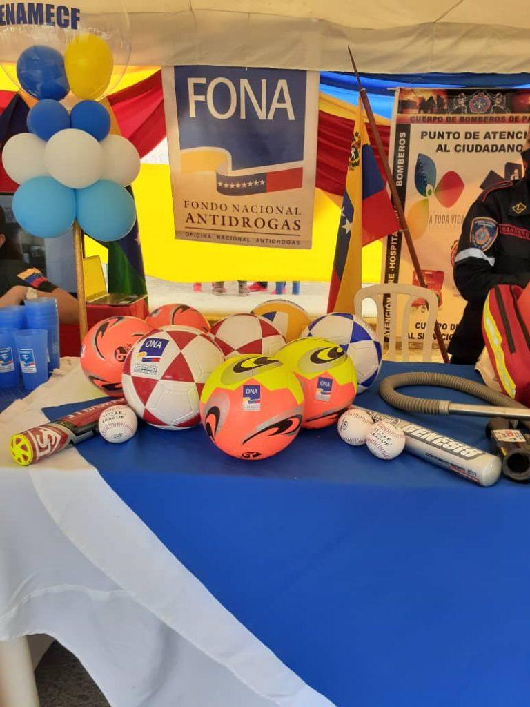 Fondo Nacional Antidrogas entrega implementos deportivos en Jornada Integral Social en Apure