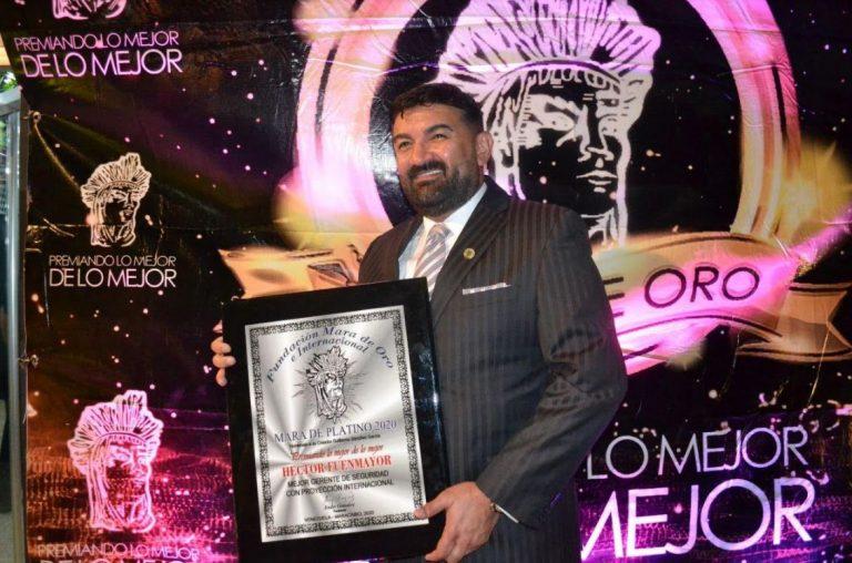 Héctor Fuenmayor recibe premio Mara de Platino al mejor gerente de seguridad con proyección internacional